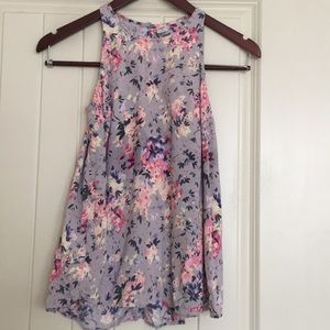 Tops - Floral Pink and Purple Old Navy Blouse